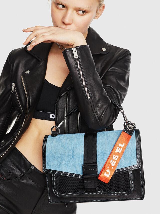 Diesel - MISS-MATCH CROSSBODY, Black/Blue - Crossbody Bags - Image 6