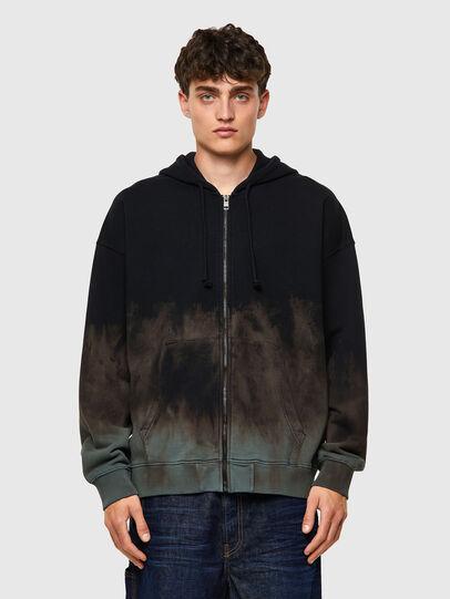 Diesel - S-UMMER-ZIP-B1, Grey - Sweaters - Image 1