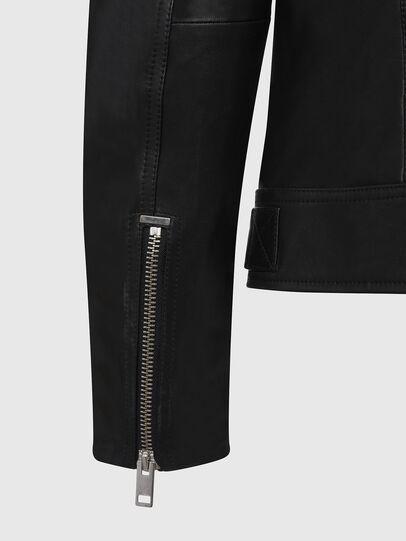 Diesel - L-CODY, Black - Leather jackets - Image 4