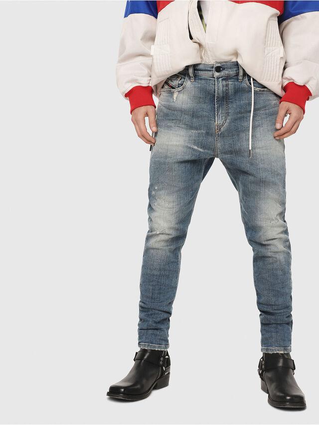 Diesel - D-Vider JoggJeans 087AD, Light Blue - Jeans - Image 1