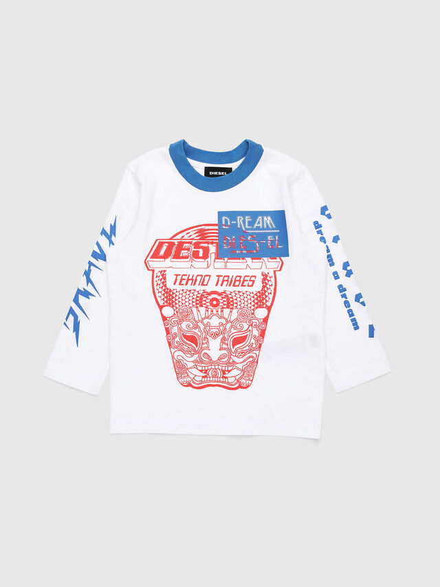Diesel - TENNUB-R, White/Red/Blu - T-shirts and Tops - Image 1