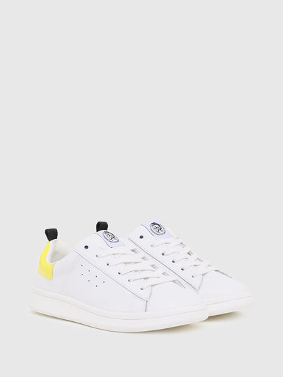 Diesel - SN LOW LACE 11 FULL, White/Yellow - Footwear - Image 2