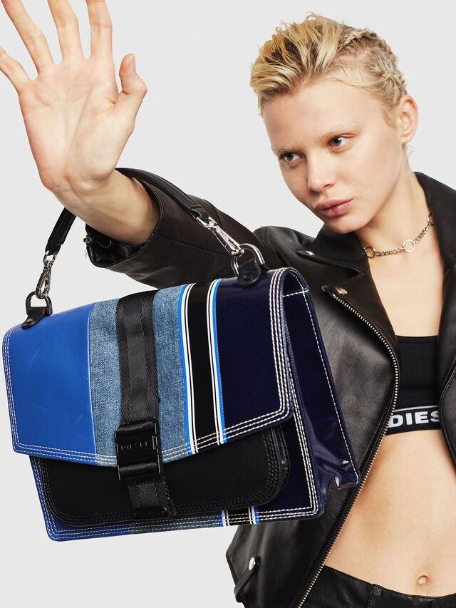 Diesel - MISS-MATCH CROSSBODY, Blue - Crossbody Bags - Image 5