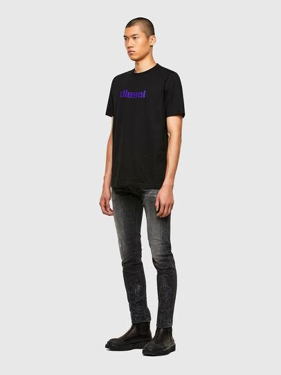 Diesel - T-JUST-N45, Black/Violet - T-Shirts - Image 4