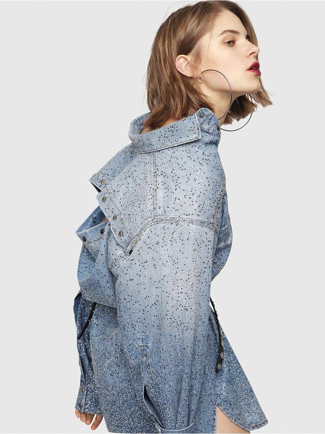 Diesel - DE-SUP-S, Blue Jeans - Dresses - Image 7