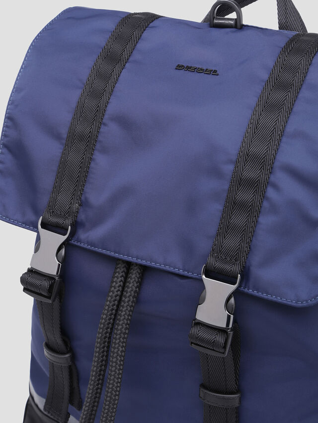Diesel - VOLPAGO BACK, Blue - Backpacks - Image 4