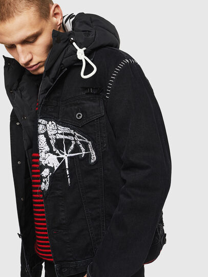 Diesel - NHILL-SXY1, Black - Denim Jackets - Image 3