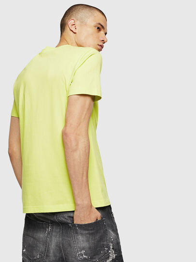 Diesel - T-DIEGO-B6, Yellow Fluo - T-Shirts - Image 2