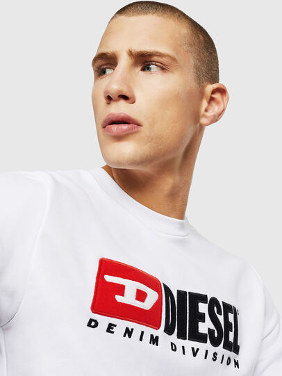 Diesel - S-GIR-DIVISION, White - Sweaters - Image 3