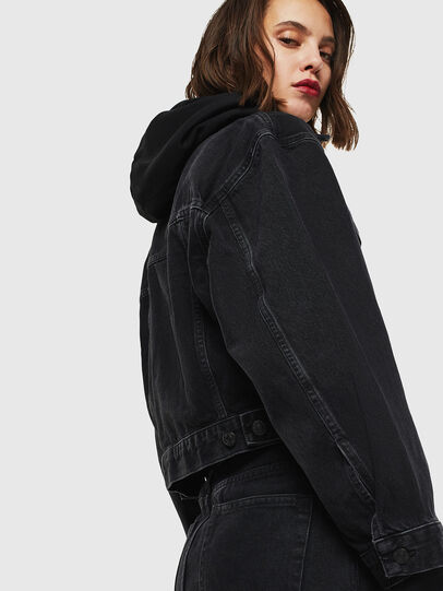 Diesel - DE-CATY, Black/Dark grey - Denim Jackets - Image 3