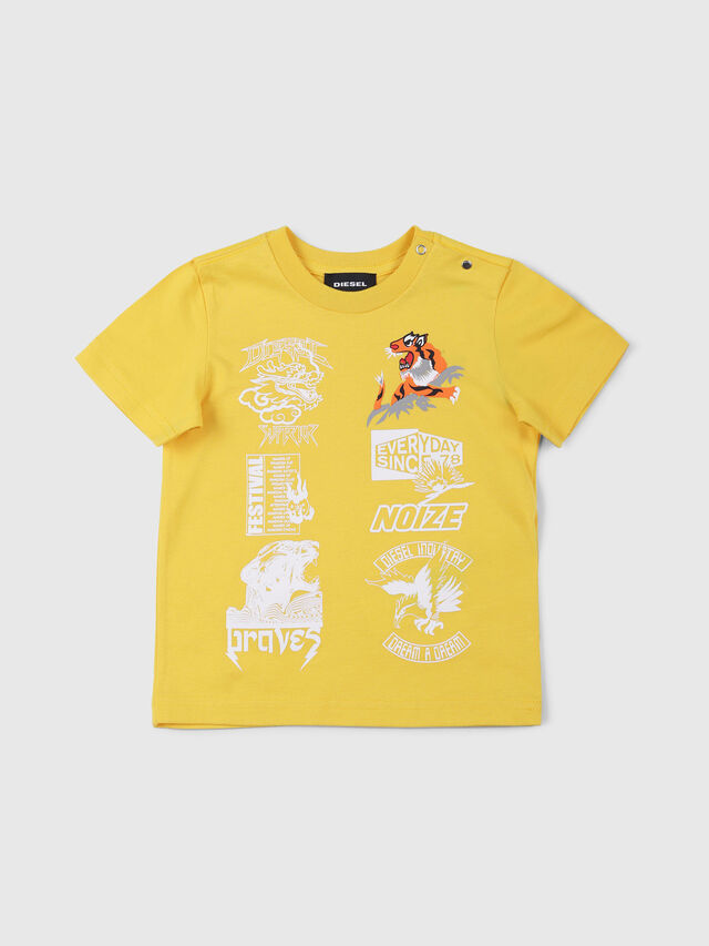 Diesel - TUCSEB, Yellow - T-shirts and Tops - Image 1