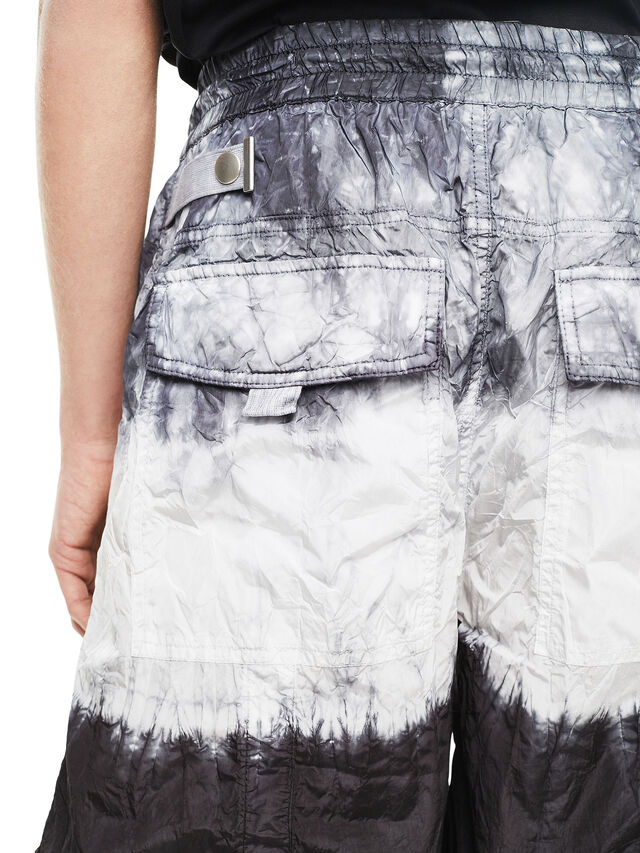 Diesel - PAIDAY, Black/White - Shorts - Image 4
