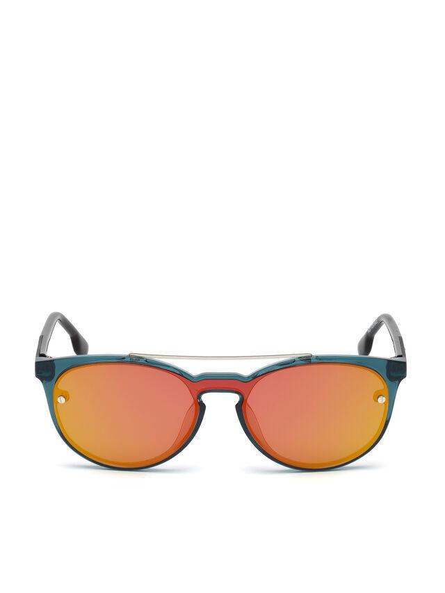 Diesel DL0216, Blue/Orange - Eyewear - Image 1