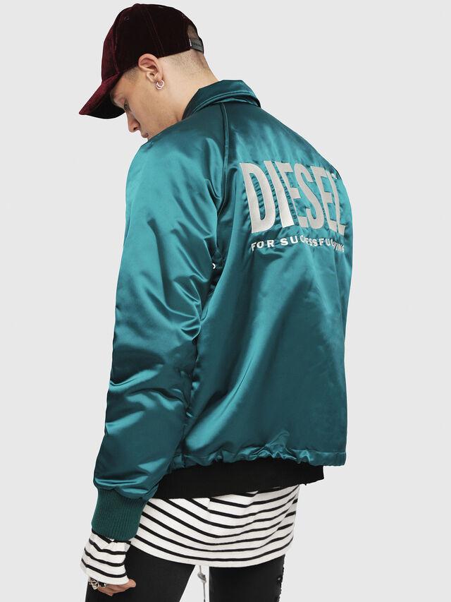 Diesel - J-AKIO, Dark Green - Jackets - Image 2