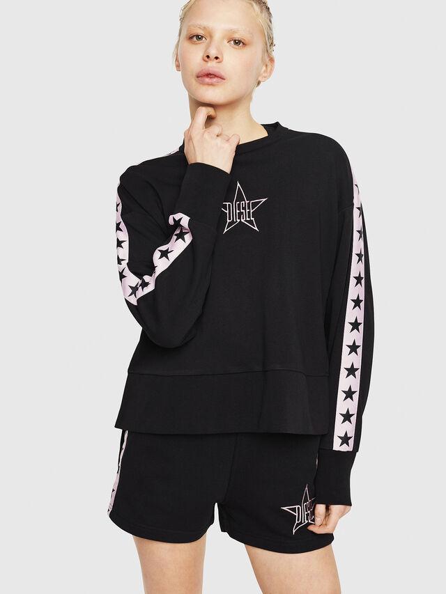 Diesel - UFLT-LYRIA, Black/Pink - Sweaters - Image 1