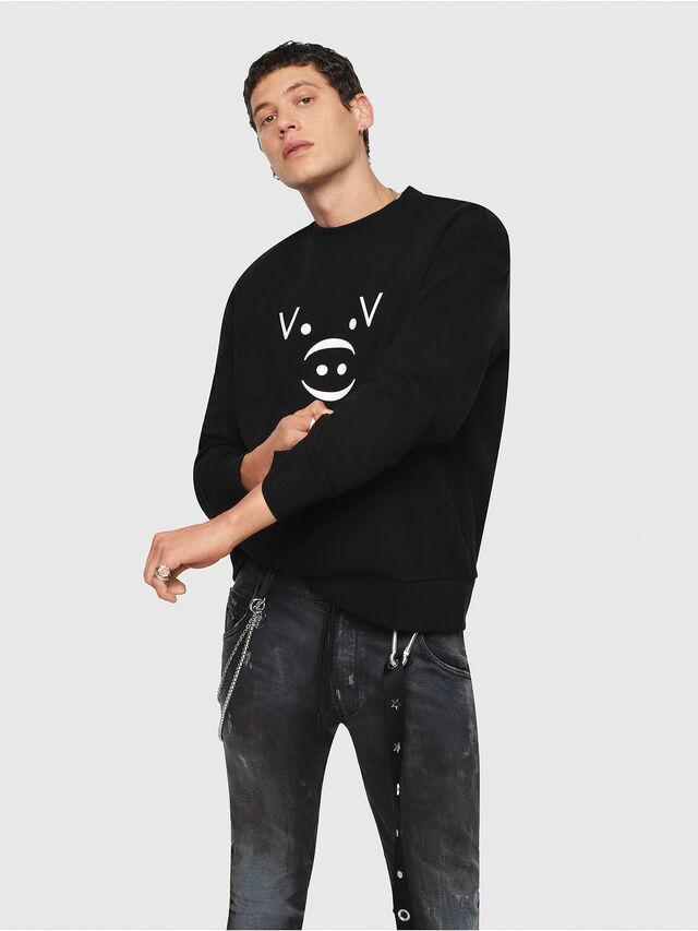 Diesel - CL-SNOR, Black - Sweaters - Image 1