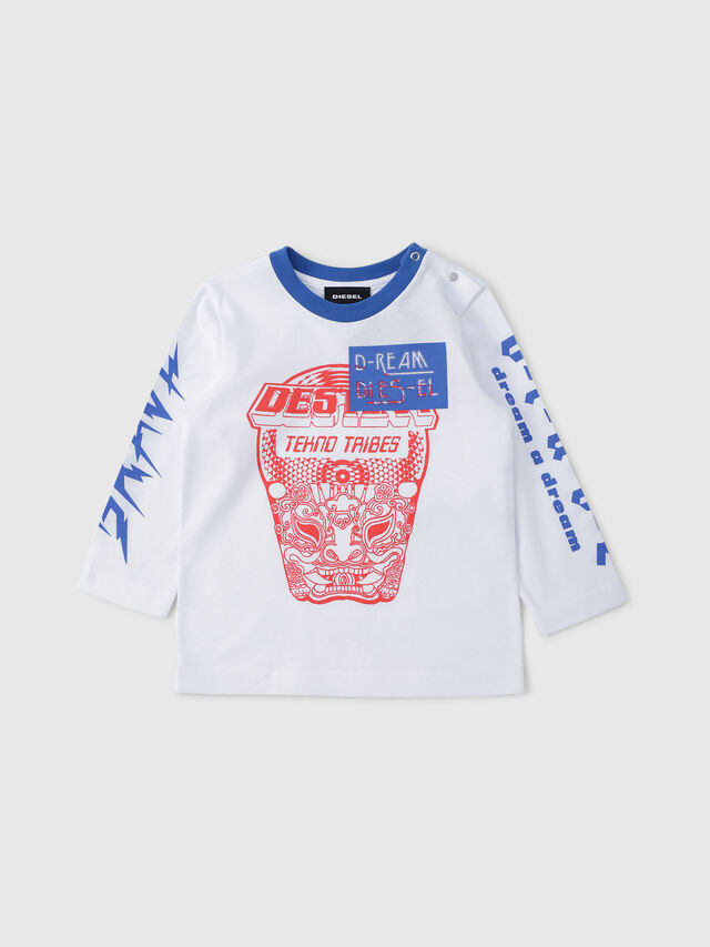 Diesel - TENNUB, White/Red/Blu - T-shirts and Tops - Image 1