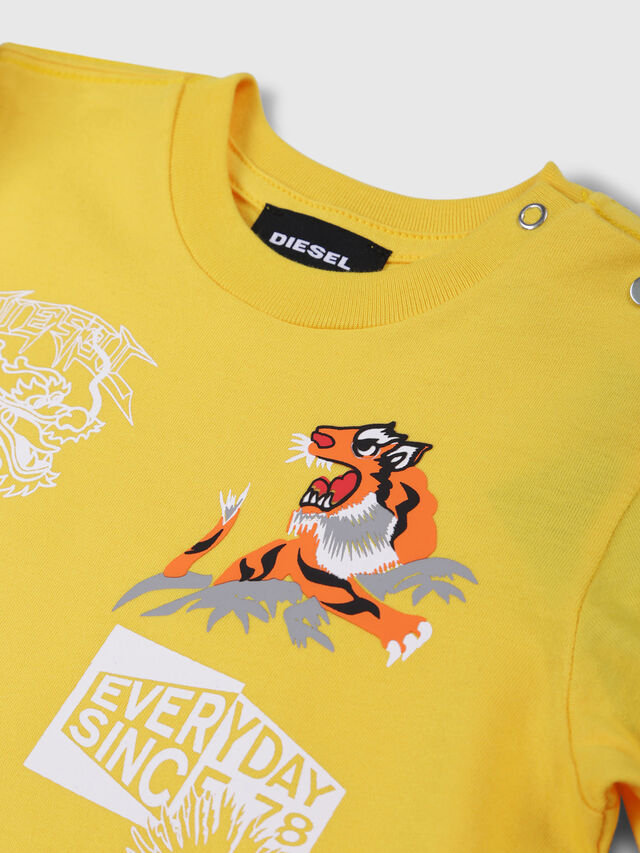 Diesel - TUCSEB, Yellow - T-shirts and Tops - Image 3