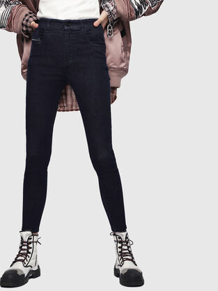 Slandy High 089AB, Dark Blue - Jeans