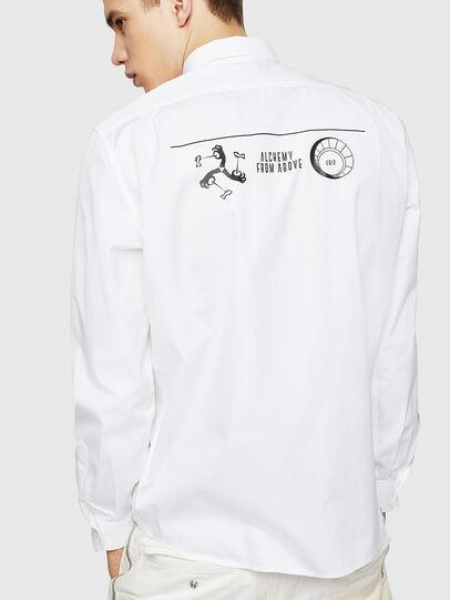 Diesel - S-VEN-PRINT, White - Shirts - Image 1