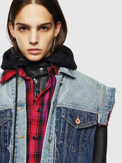 Diesel - L-MARALI, Blue/Black - Leather jackets - Image 5