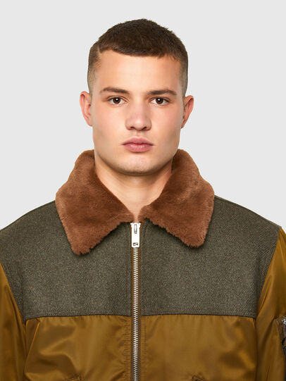 Diesel - W-LOUIS, Dark Green - Winter Jackets - Image 4
