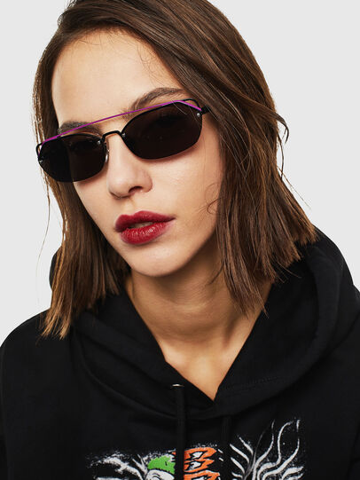 Diesel - DL0313, Black/Violet - Sunglasses - Image 5