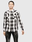S-EAST-LONG-E, White/Black - Shirts