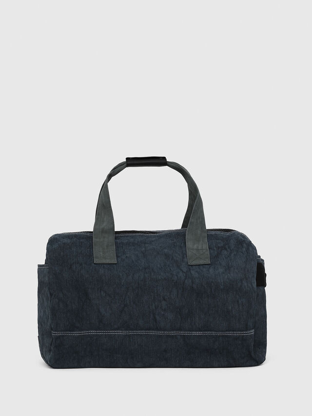 Diesel - D-THISBAG TRAVEL BAG, Blue Jeans - Travel Bags - Image 2