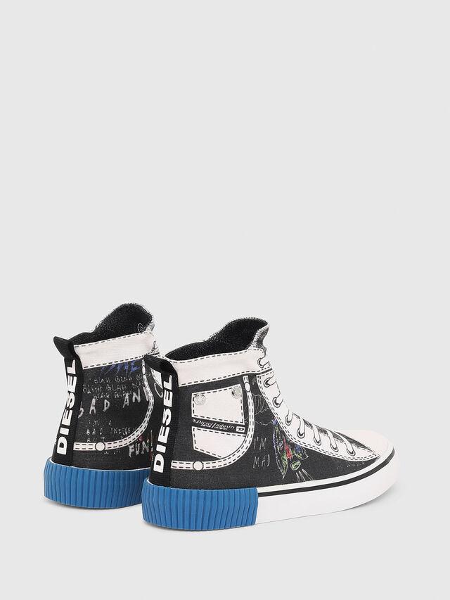 Diesel - SN MID 08 GRAPHIC CH, Black/White - Footwear - Image 3
