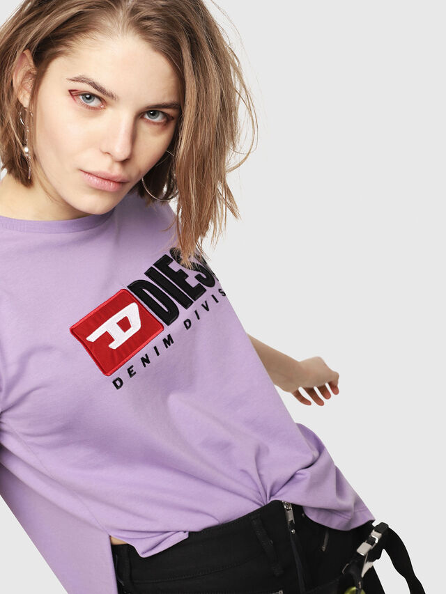 Diesel - T-JACKY-D, Lilac - T-Shirts - Image 4