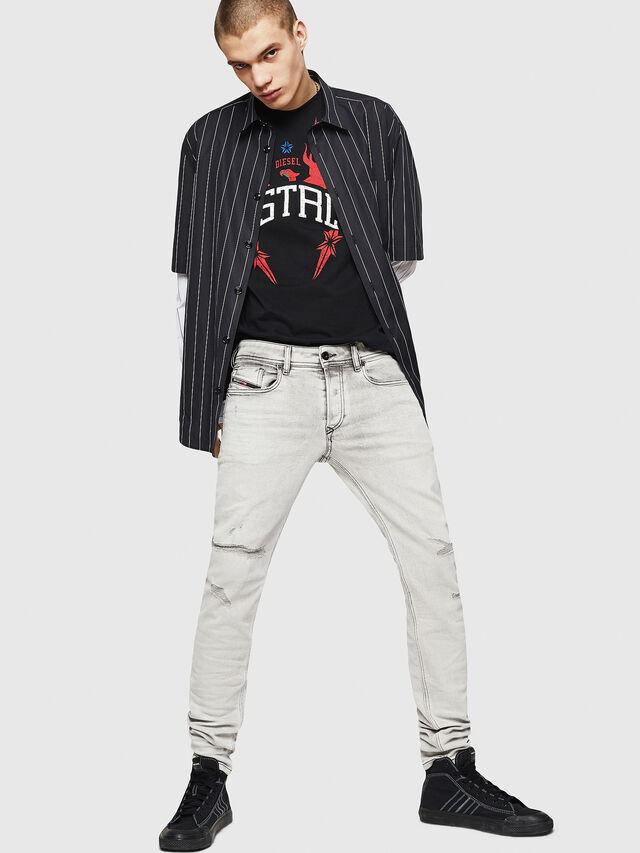 Diesel - Sleenker 0090F, Light Grey - Jeans - Image 6