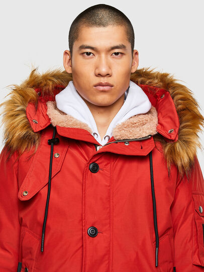 Diesel - W-JAME, Red - Winter Jackets - Image 3