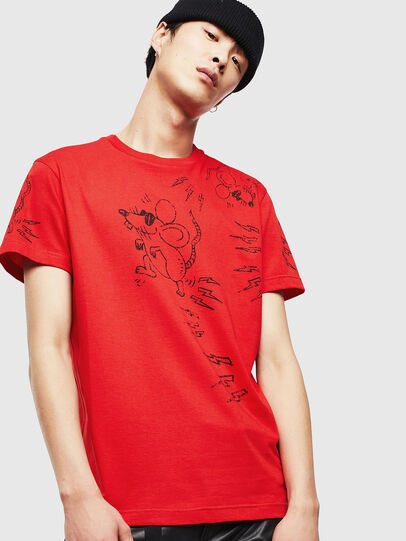 Diesel - CL-T-DIEGO-3, Red - T-Shirts - Image 1