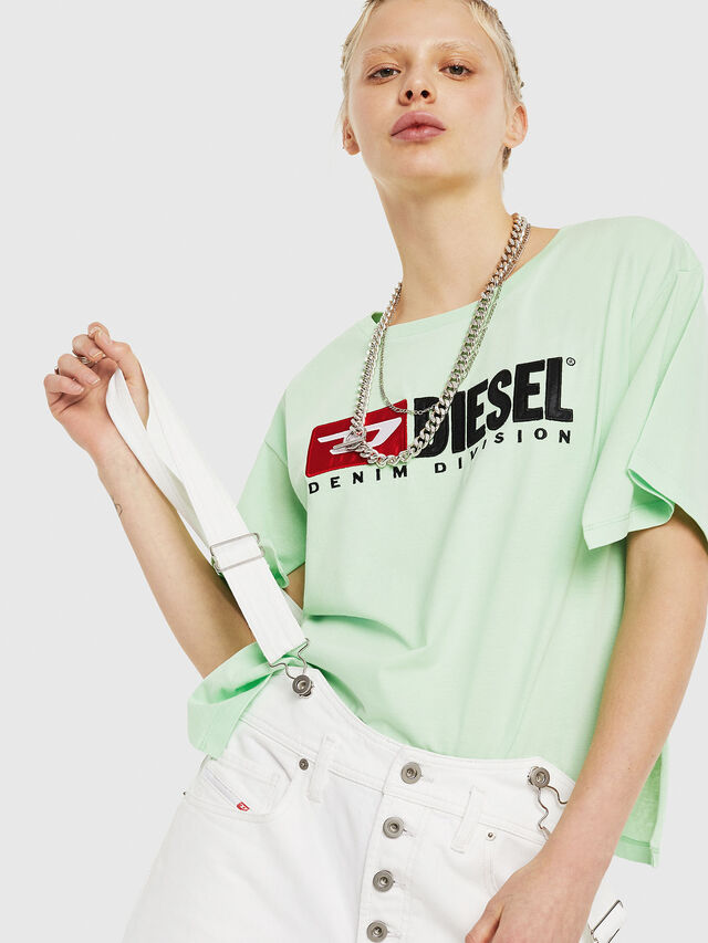 Diesel - T-JACKY-D, Green Fluo - T-Shirts - Image 4