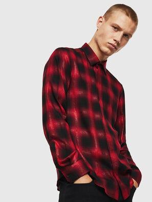 S-MARLENE-C, Red/Black - Shirts
