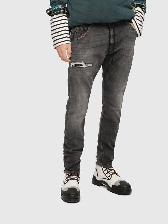Diesel - Krooley JoggJeans 069EM, Black/Dark grey - Jeans - Image 1