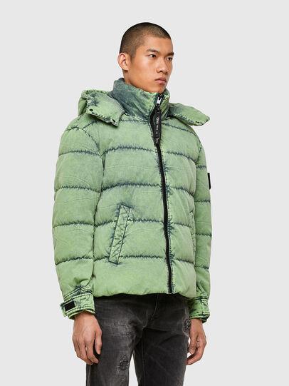 Diesel - W-EVACID, Green Fluo - Winter Jackets - Image 7