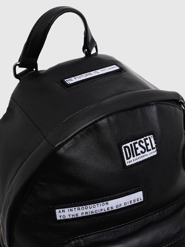 Diesel - LE-ZIPPER BACKPACK, Black - Backpacks - Image 3