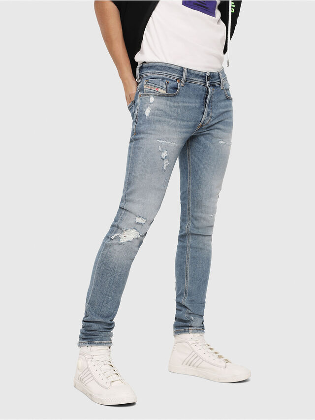 Diesel - Sleenker 086AT, Light Blue - Jeans - Image 1