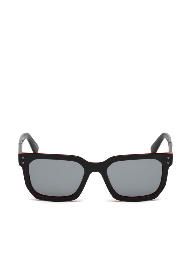 Diesel DL0253, Black/Red - Eyewear - Image 1