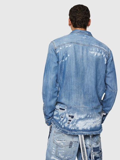 Diesel - D-FRED, Light Blue - Denim Shirts - Image 2