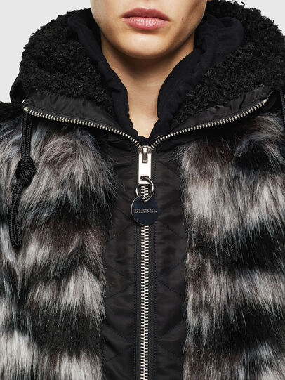 Diesel - L-ALYA, Black - Leather jackets - Image 6