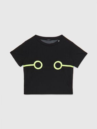 Diesel - UFTEE-ROUNDFEM-M, Black - T-Shirts - Image 1