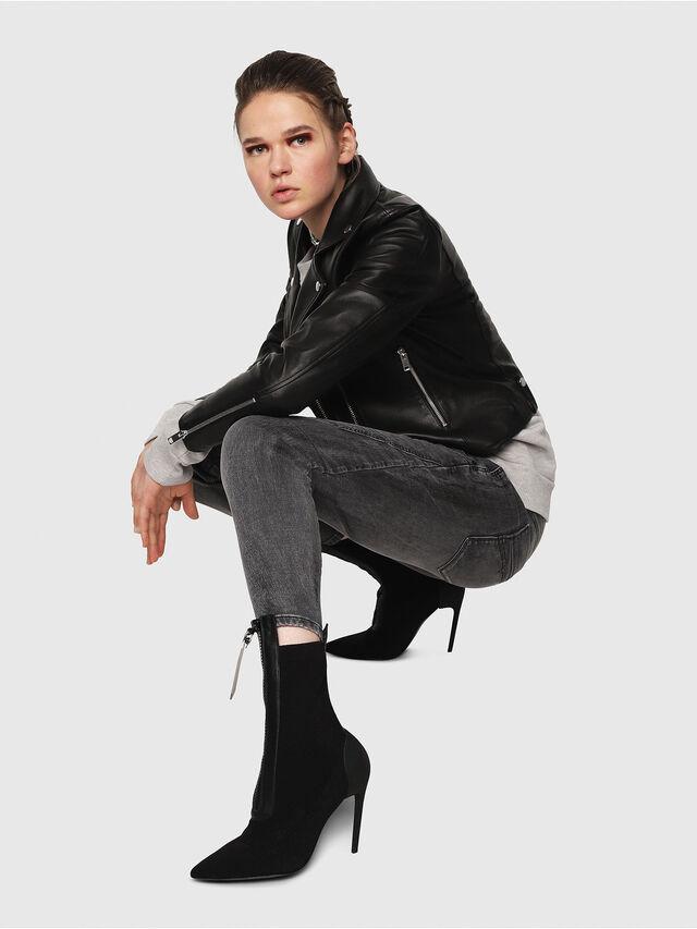 Diesel - Fayza JoggJeans 8880U, Black/Dark grey - Jeans - Image 4