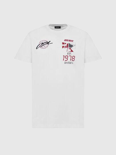 Diesel - T-DIEGOS-X43, White - T-Shirts - Image 1