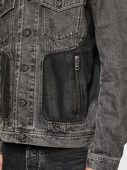 Diesel - NHILL-ROD-SP, Black - Denim Jackets - Image 5