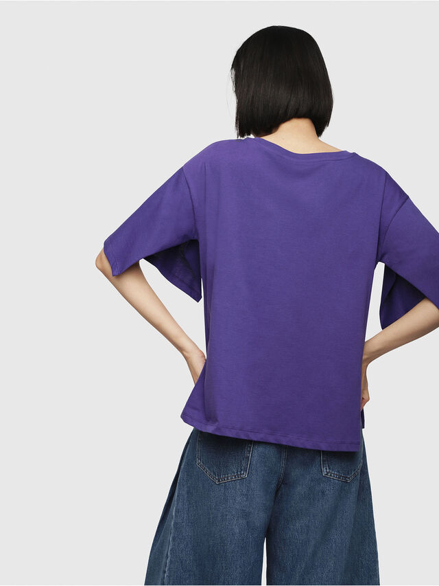 Diesel - T-JACKY-D, Violet - T-Shirts - Image 2