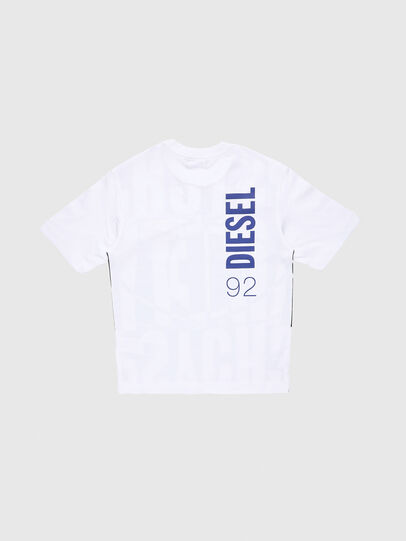 Diesel - TLUCASSLY1 OVER, White/Black - T-shirts and Tops - Image 2
