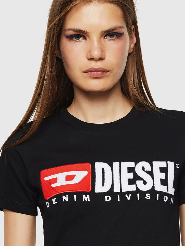 Diesel - T-SILY-DIVISION, Black - T-Shirts - Image 3
